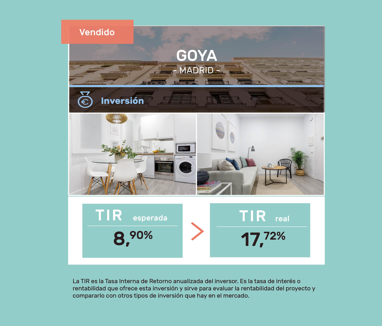 proyectos cerrados rentabilidad housers Goya